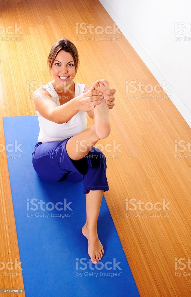 Yoga Series: Leg Stretch royalty-free stock photo