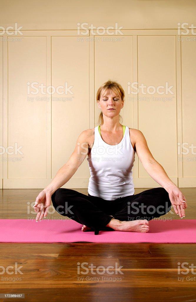 Yoga Series - Meditation II royalty-free stock photo