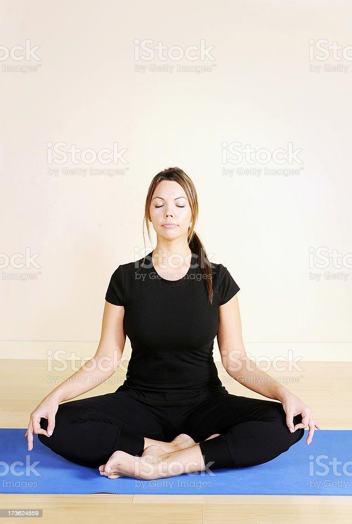 Yoga Series: Meditation royalty-free stock photo