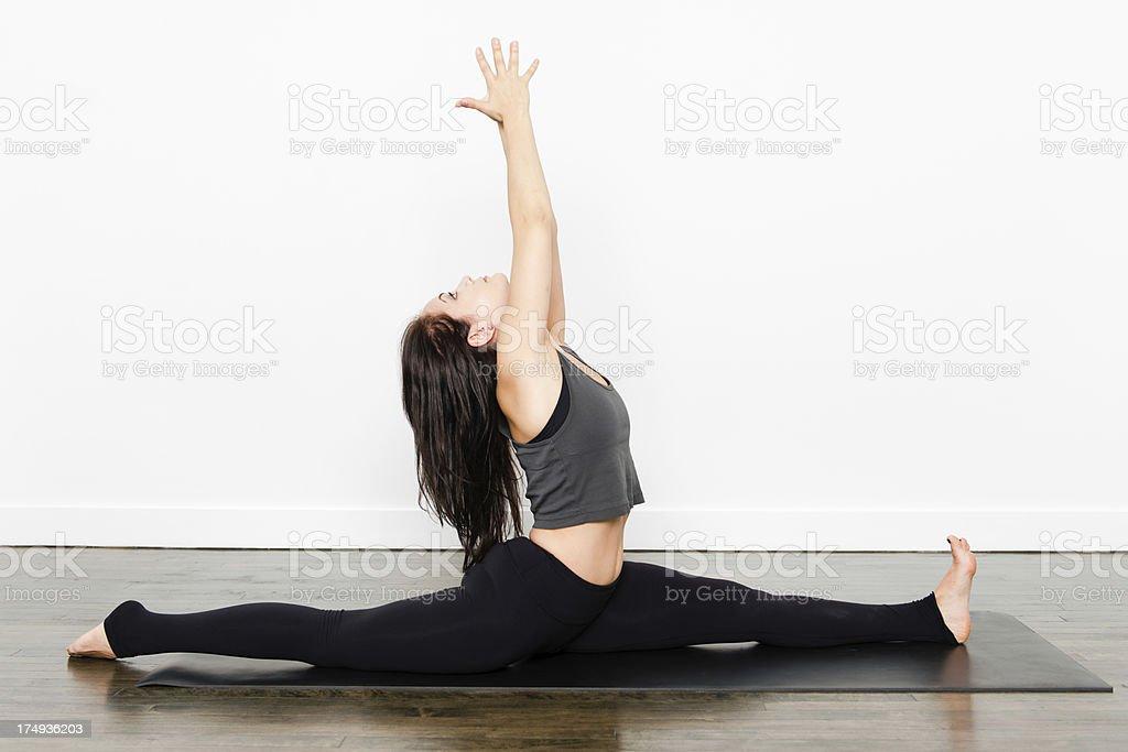 Yoga Series - Split Stretch royalty-free stock photo