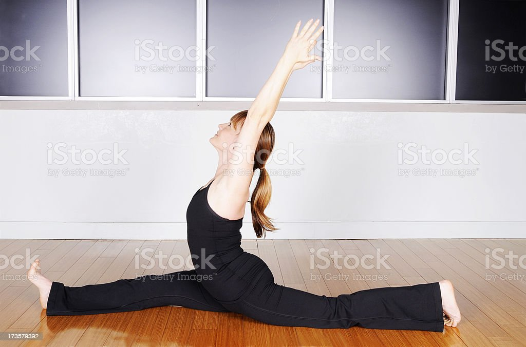 Yoga Series: Splits royalty-free stock photo