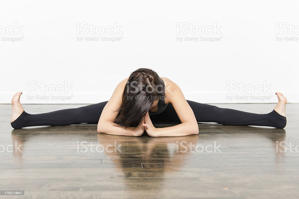 Yoga Series - Straddle Splits royalty-free stock photo