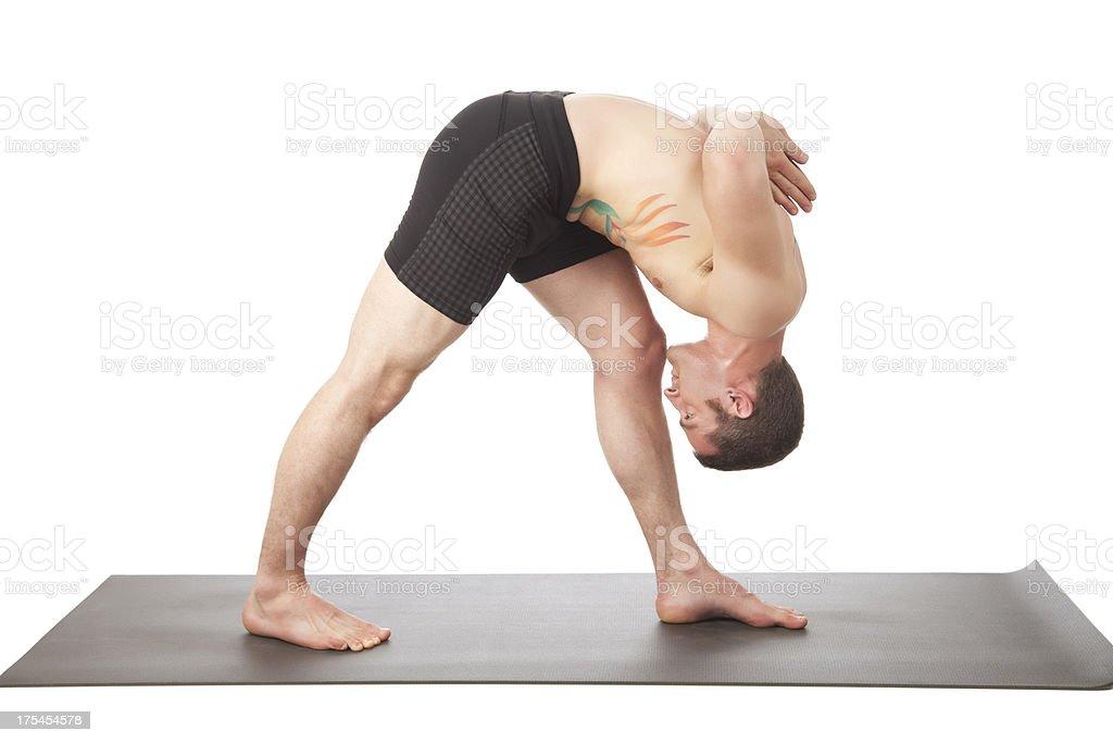 Yoga - Side Forward Bend stock photo