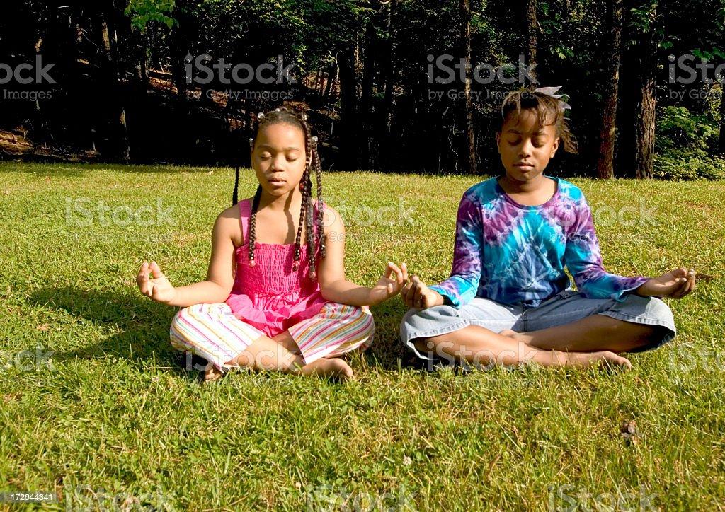 yoga silence royalty-free stock photo