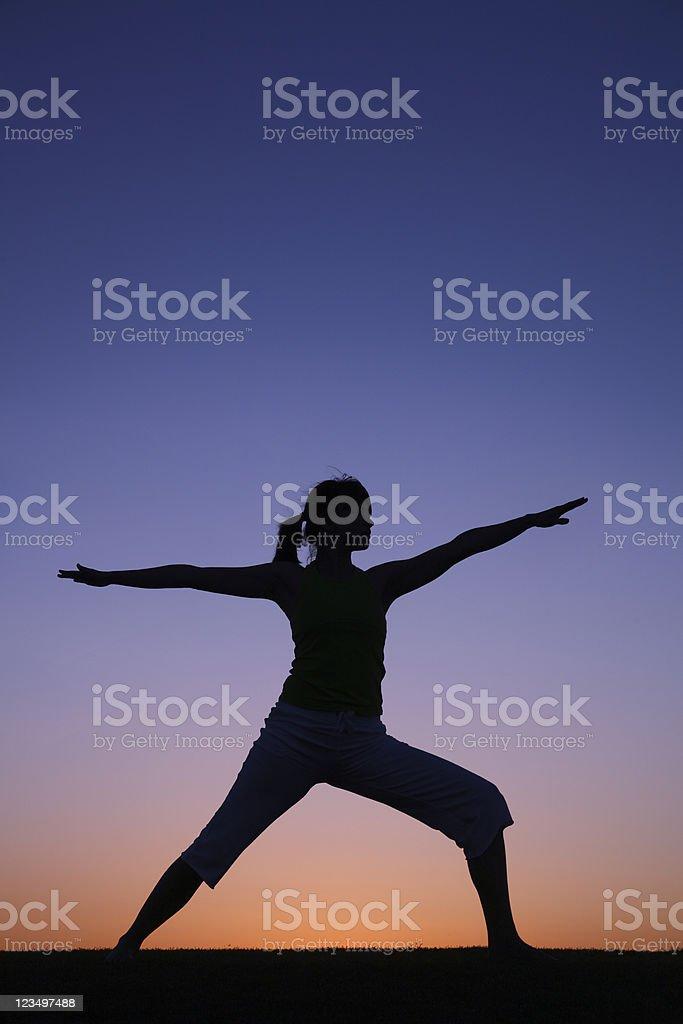 Yoga Silhouette royalty-free stock photo