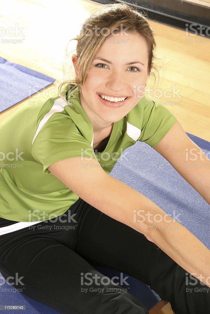 Yoga Smile Stretch royalty-free stock photo
