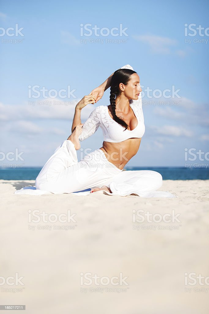 Yoga Stretching royalty-free stock photo