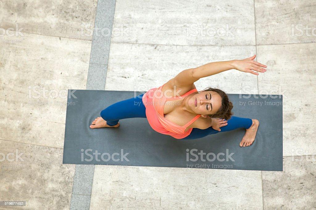 Yoga Stretching stock photo