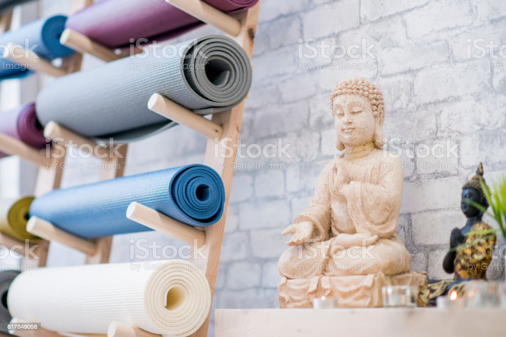 Yoga Studio and Meditation Class Decor stock photo