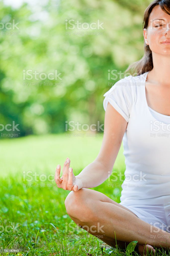 Yoga style royalty-free stock photo