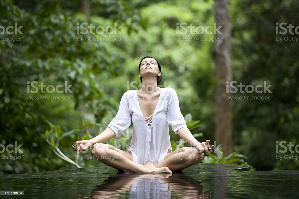 Yoga style stock photo