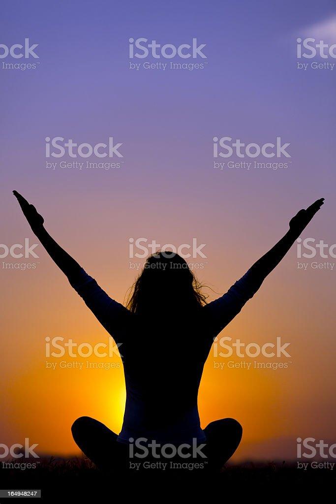 Yoga Sunsire royalty-free stock photo