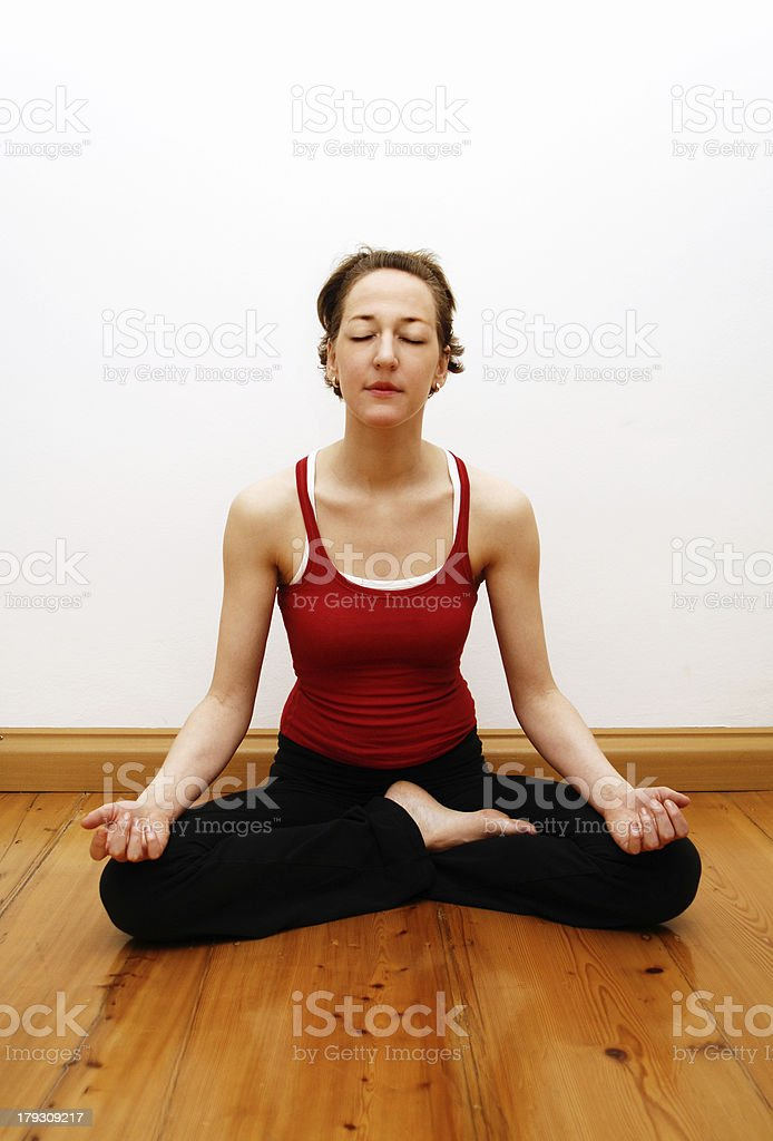 yoga - tailor seat royalty-free stock photo