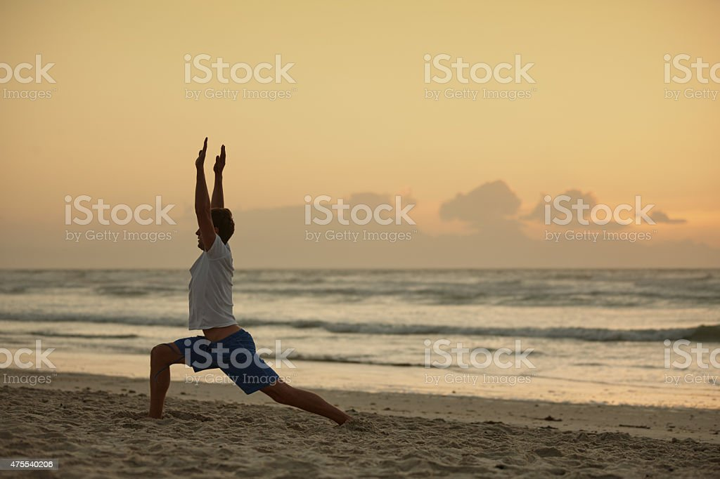 Yoga - the poetry of movement stock photo