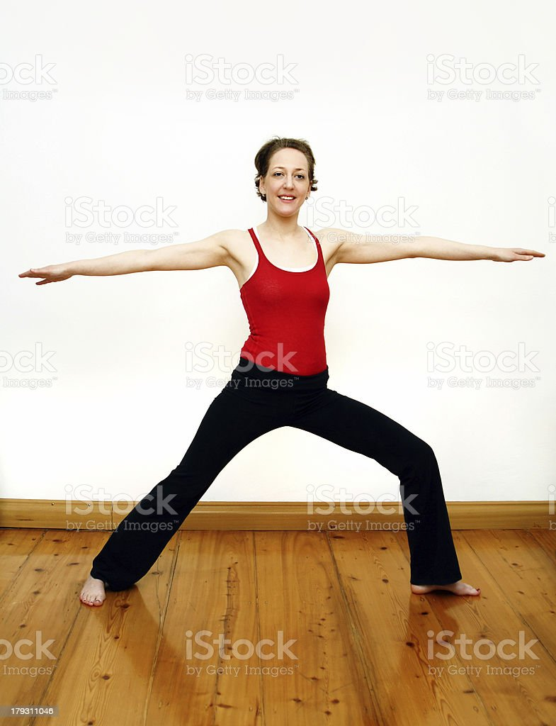yoga - the warrior royalty-free stock photo