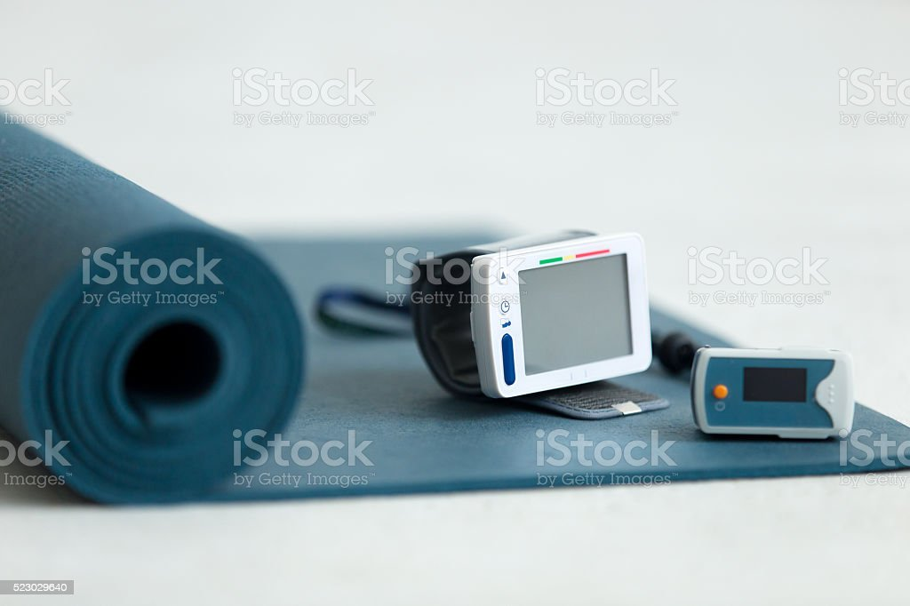 Yoga therapy equipment stock photo
