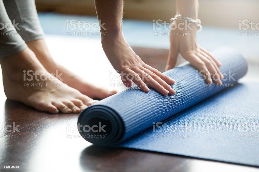 Yoga training concept stock photo