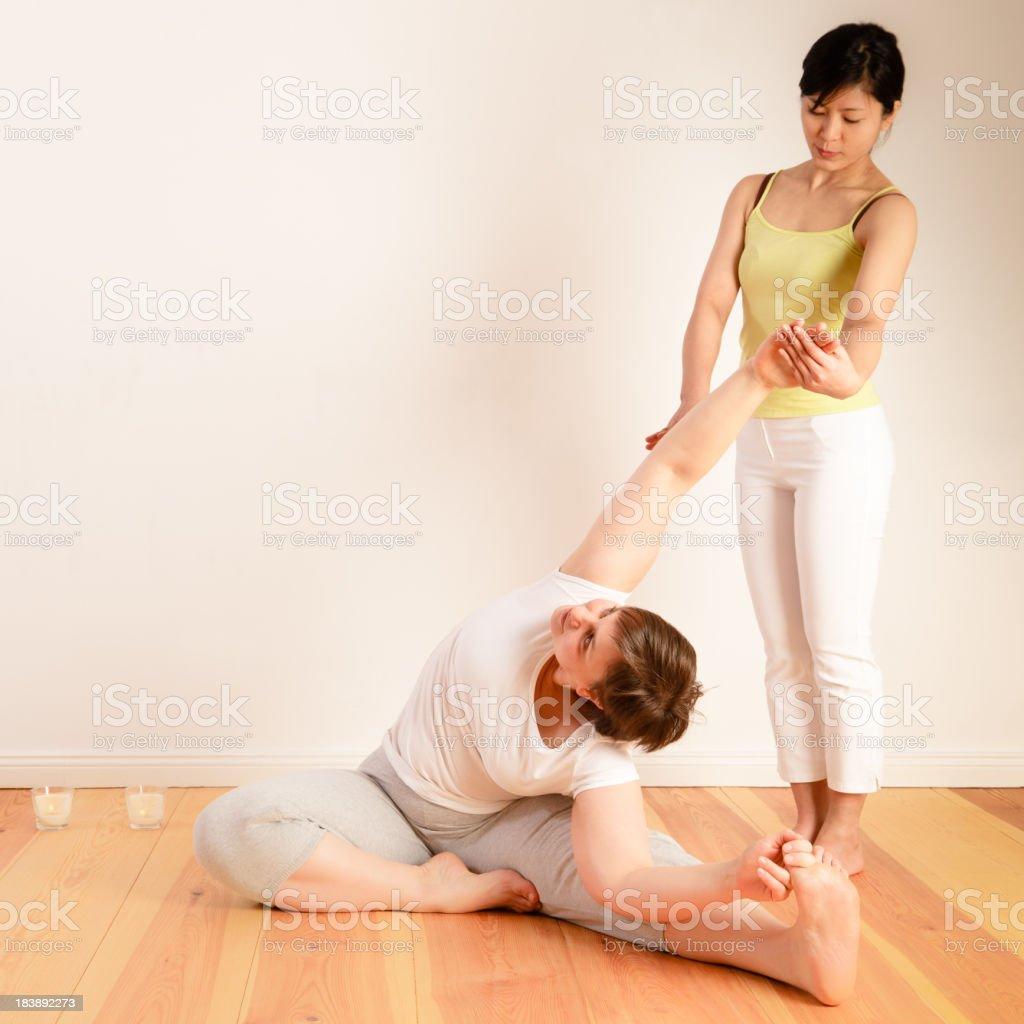 Yoga training royalty-free stock photo