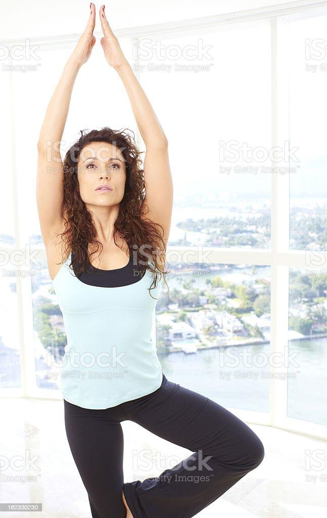 Yoga Tree Pose royalty-free stock photo