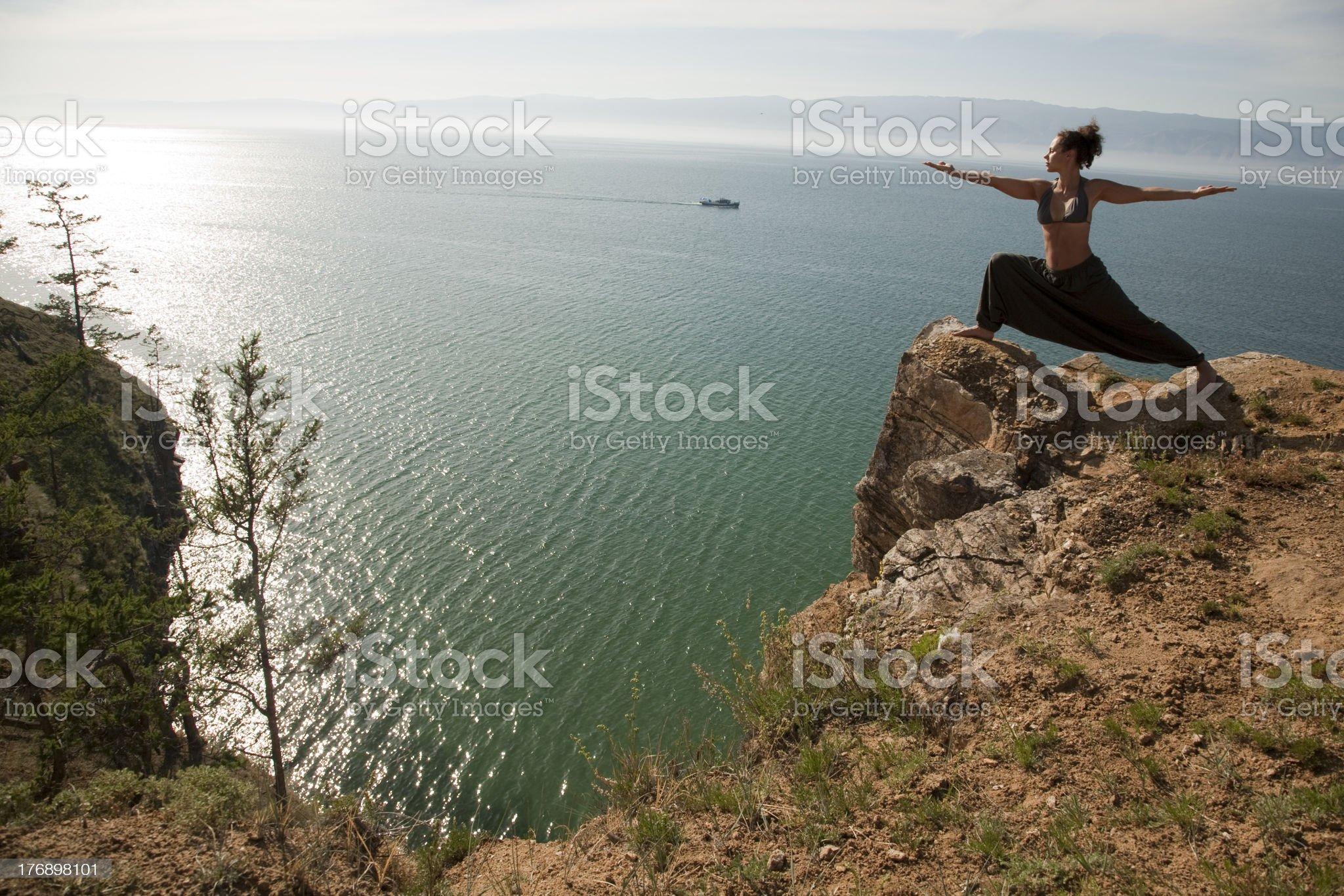 Yoga warrior royalty-free stock photo