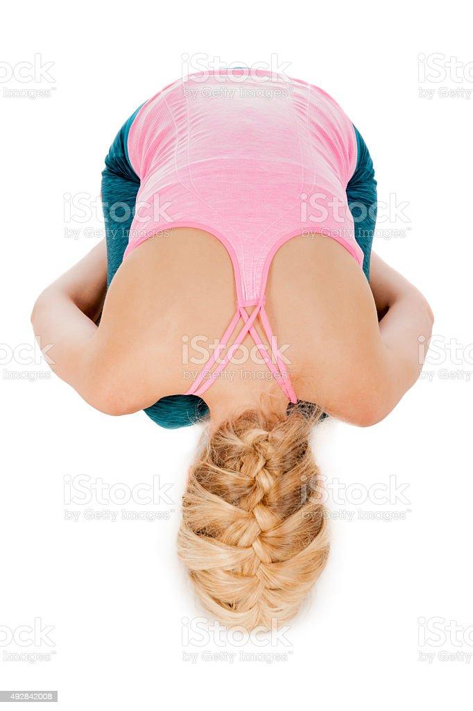 Yoga_Garbhasana_3 stock photo