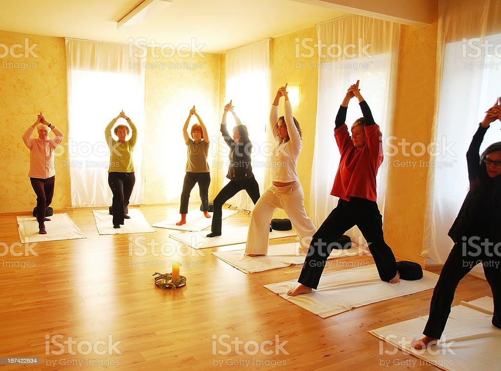 yogagroup royalty-free stock photo