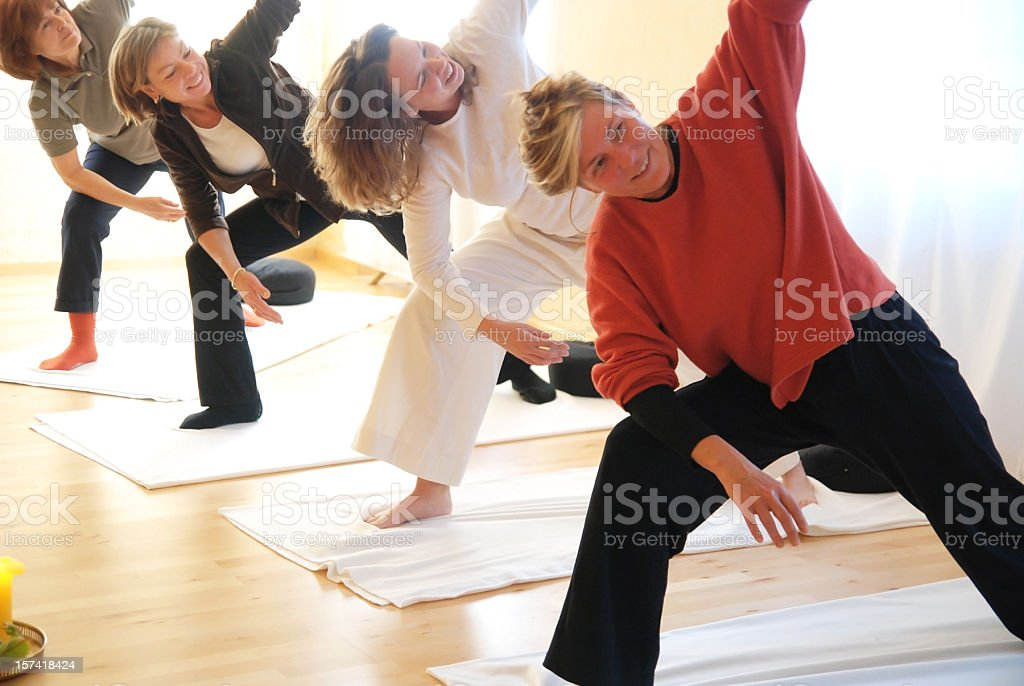 yogagroup training stock photo