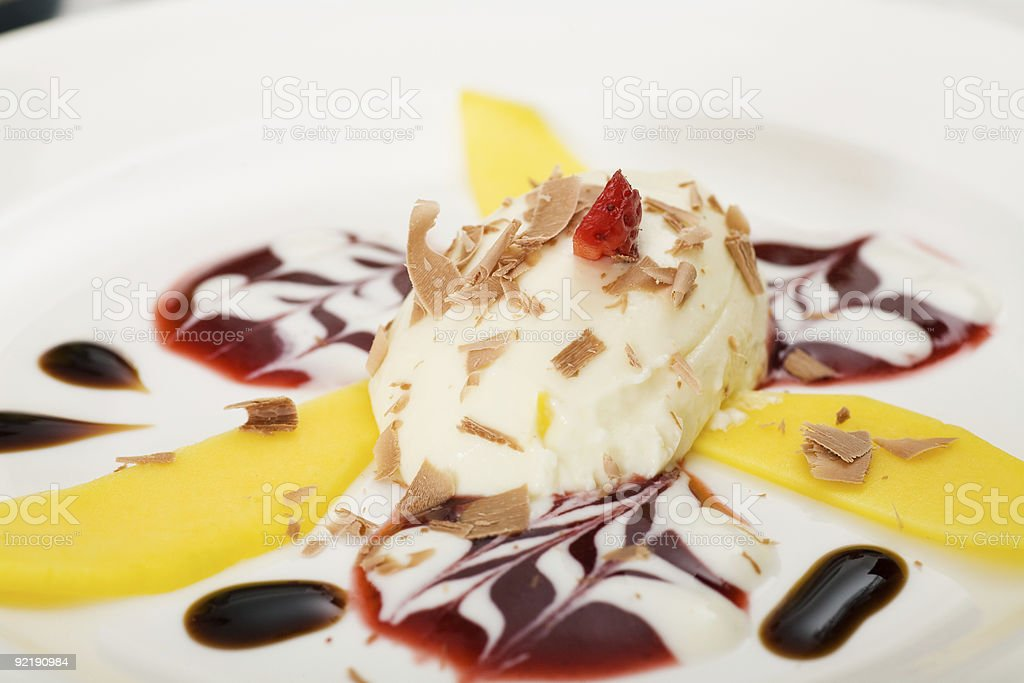 Yoghurt Mousse royalty-free stock photo