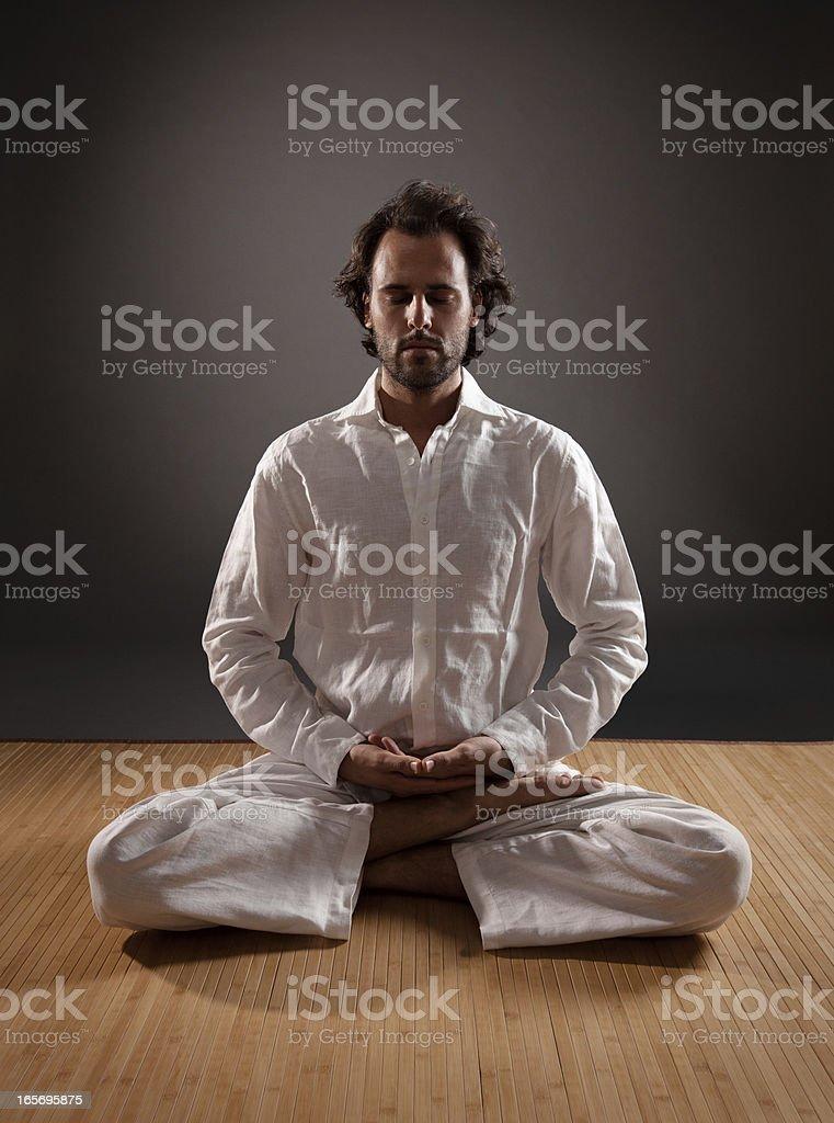 Yogi in Meditation stock photo