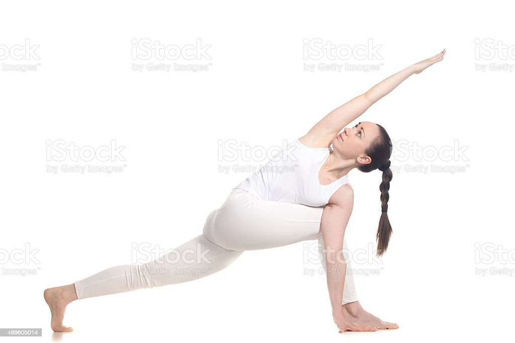 Yogi practice stock photo