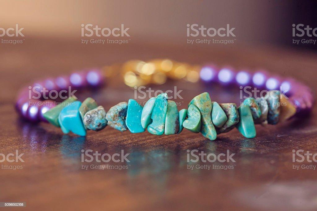 Yogini bracelet with natural turqouise stock photo