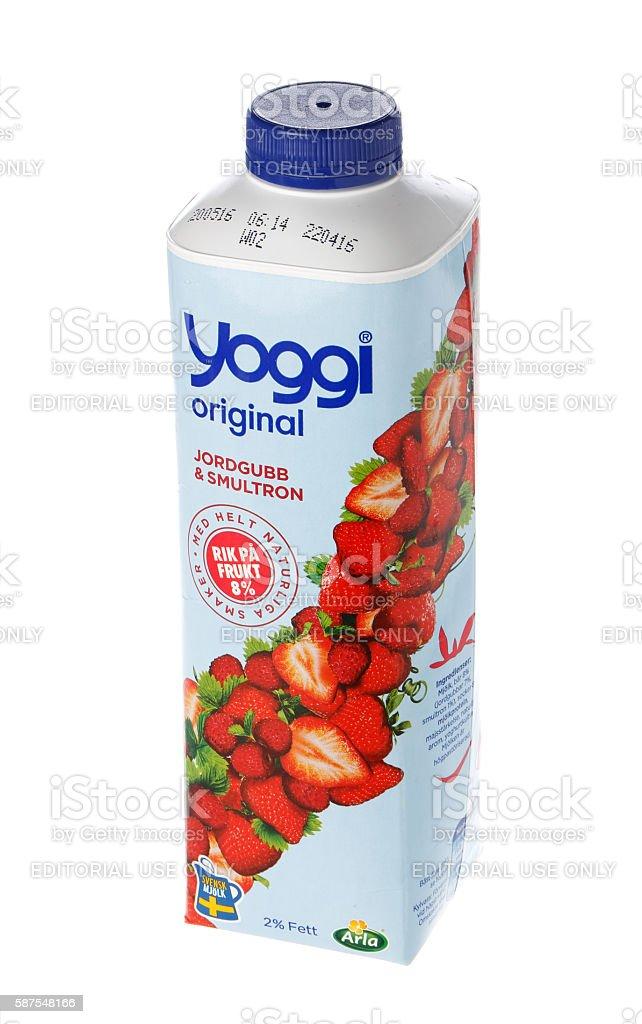 Yogurt 1000 grams container stock photo