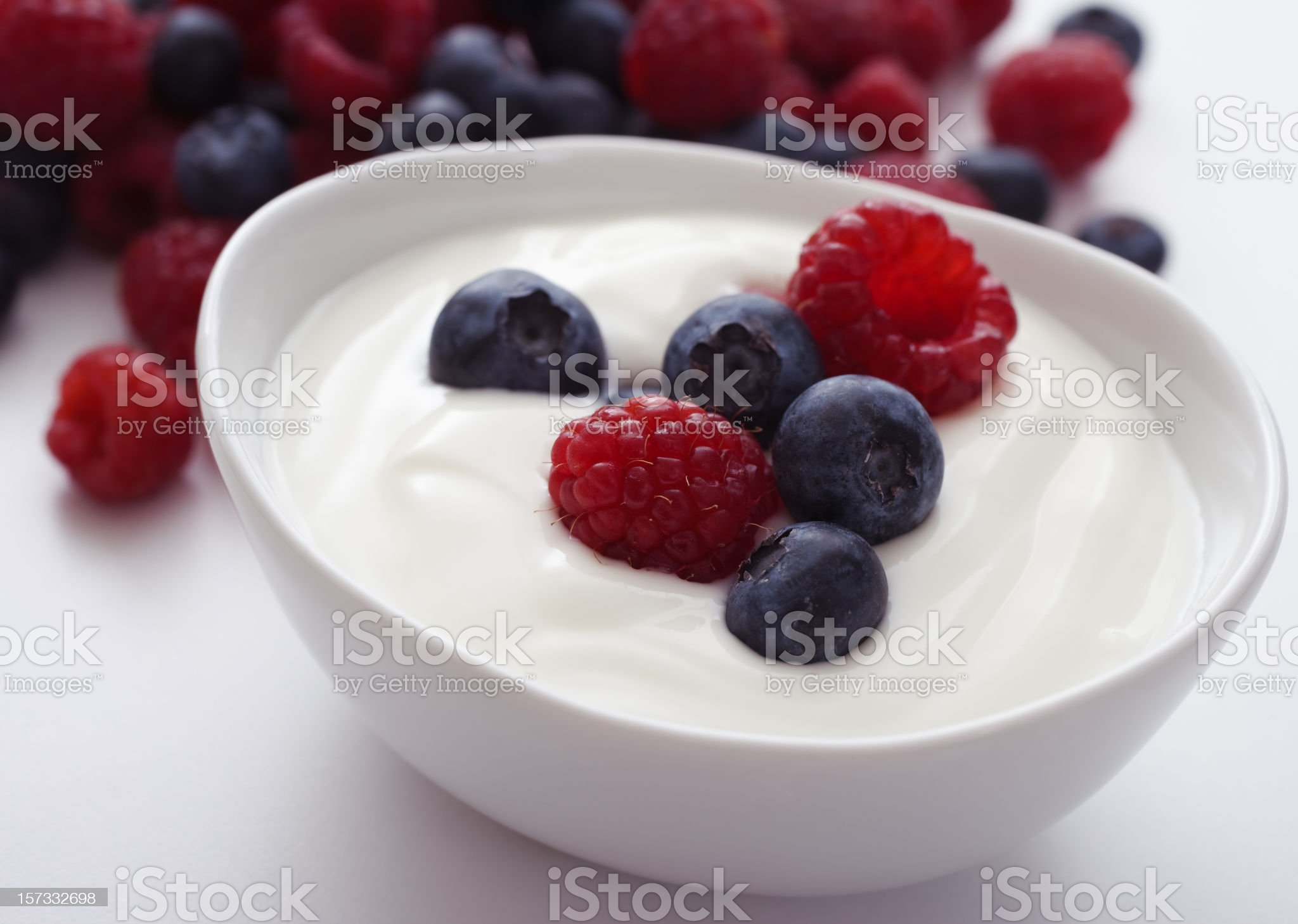 Yogurt and fruit royalty-free stock photo