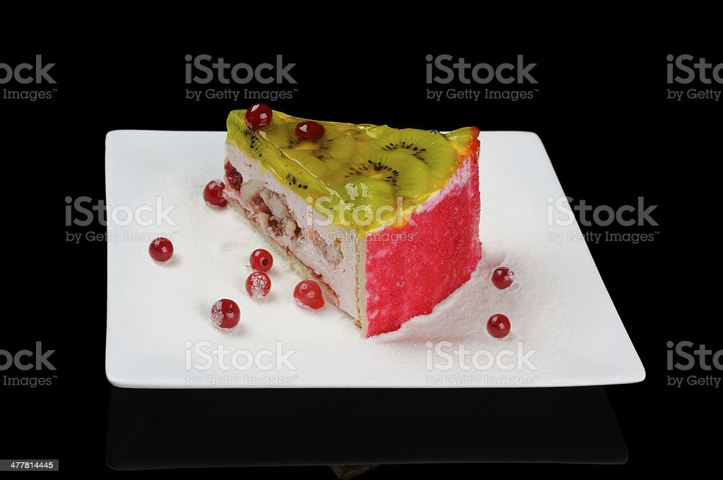 Yogurt cake royalty-free stock photo