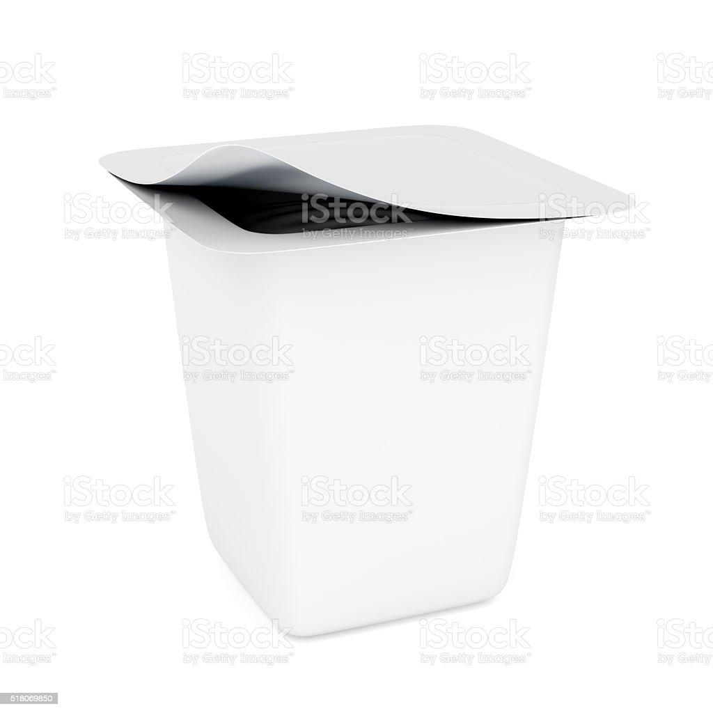 Yogurt packaging stock photo