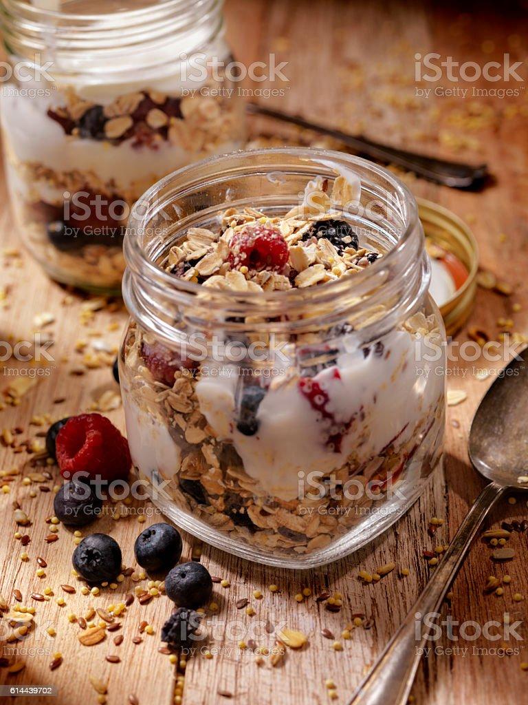 Yogurt Parfait with Fresh Fruit stock photo