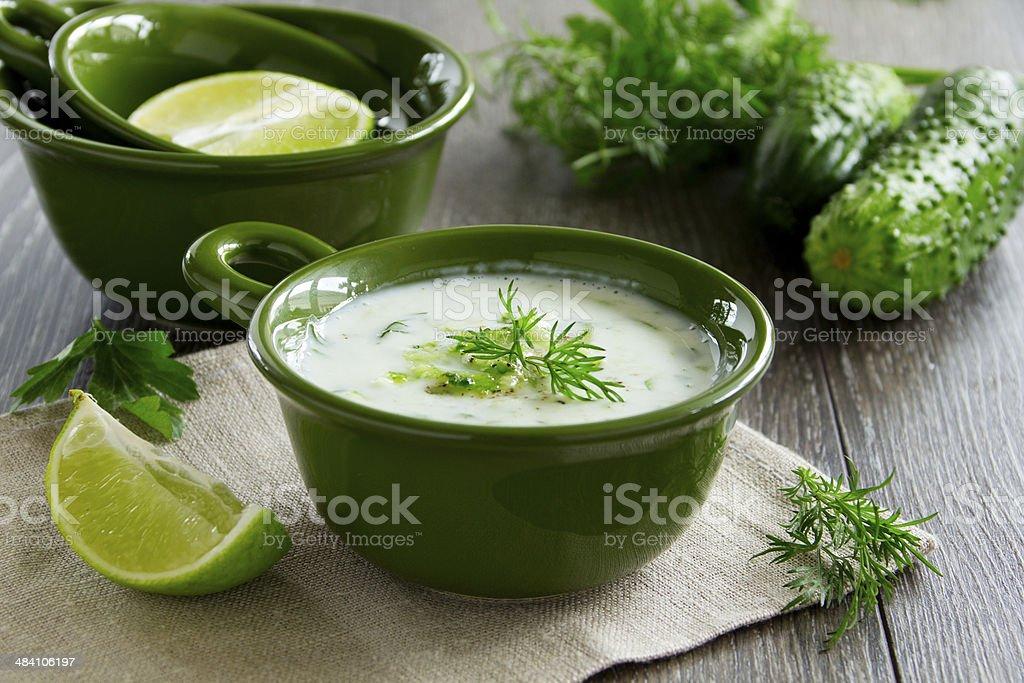 Yogurt sauce - tzatziki stock photo