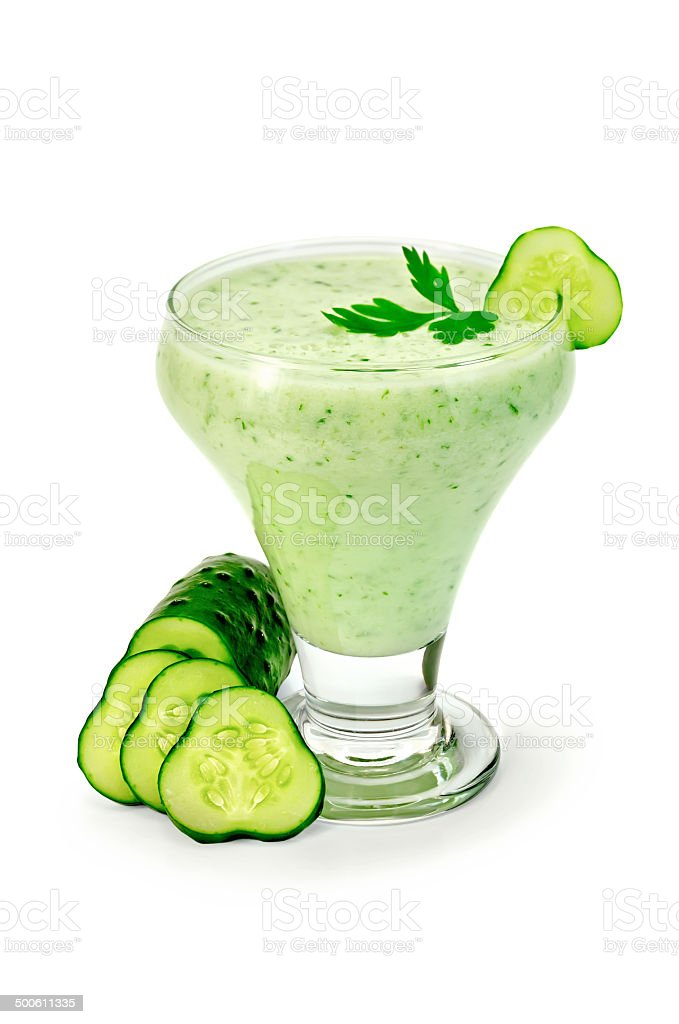 Yogurt with cucumber and parsley royalty-free stock photo