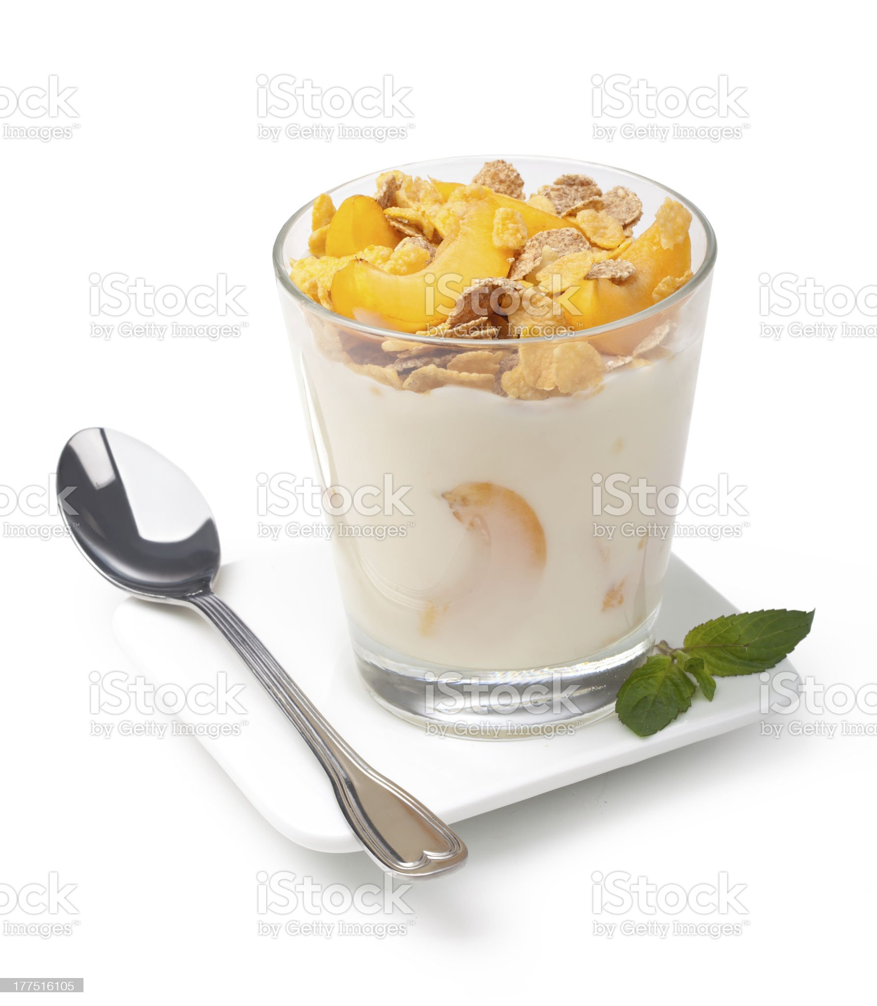 yogurt with muesli royalty-free stock photo