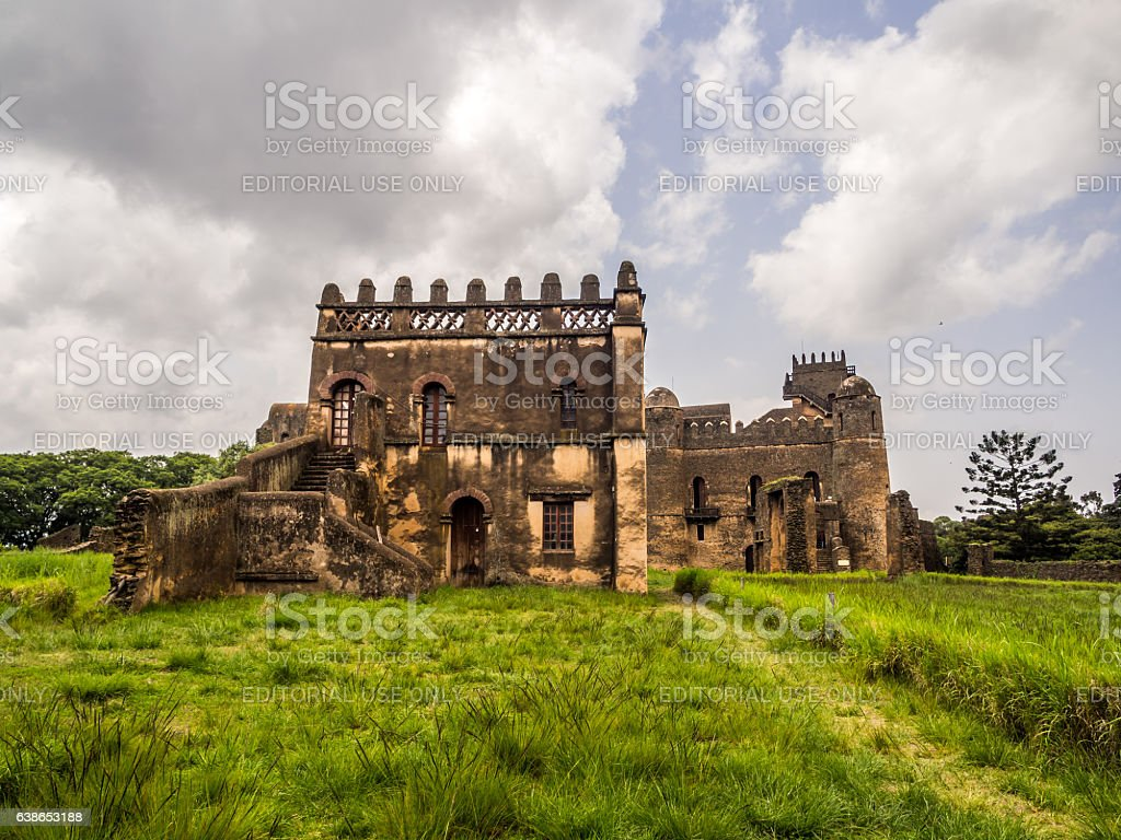 Yohannis I's Castle in Gondar, Ethiopia stock photo