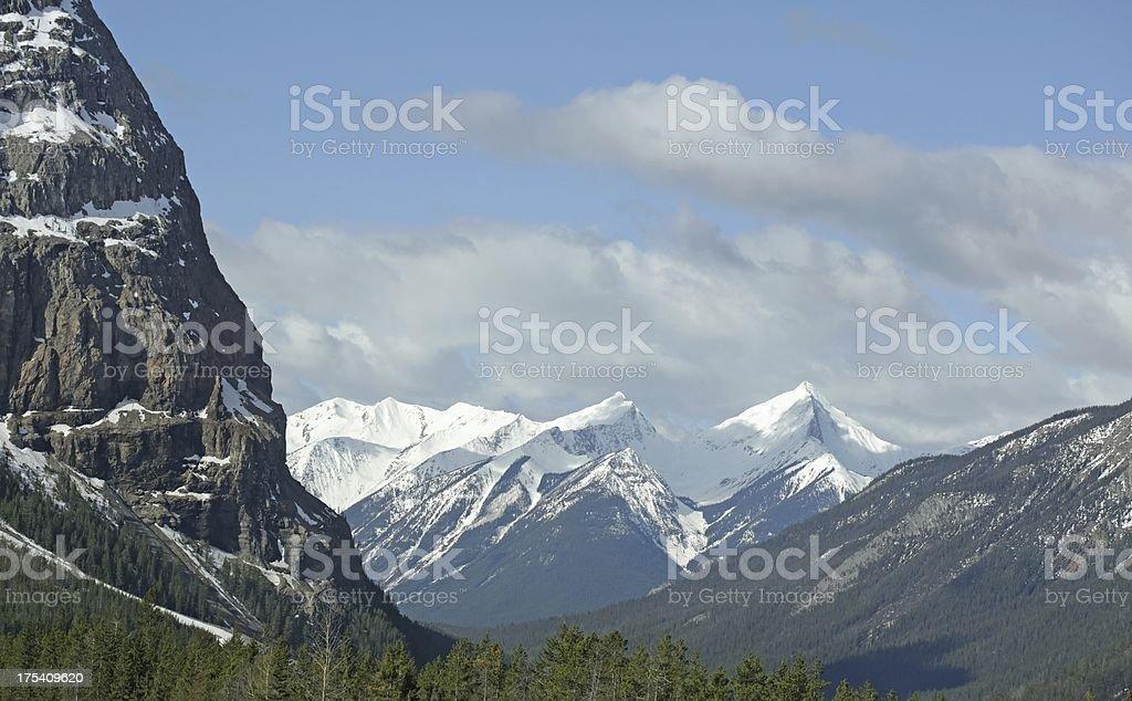Yoho National Park of Canada, near Field, Brititsh Columbia stock photo