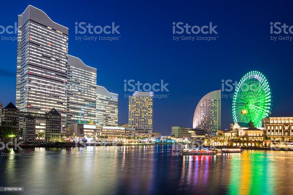 Yokohama at dusk stock photo