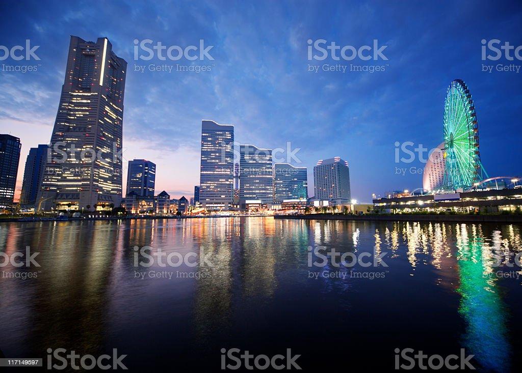 Yokohama at sunset royalty-free stock photo