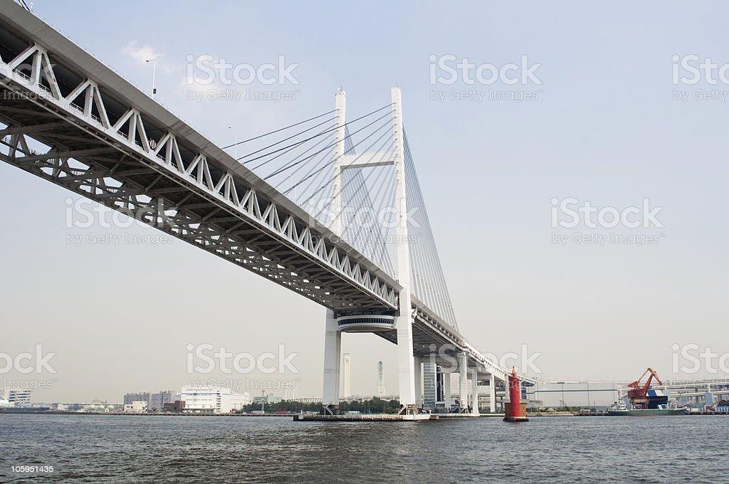 Yokohama Bay Bridge royalty-free stock photo