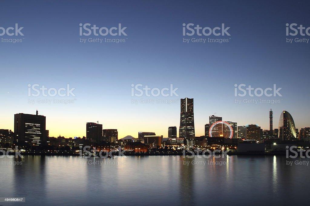 Yokohama city , Japan skyline stock photo