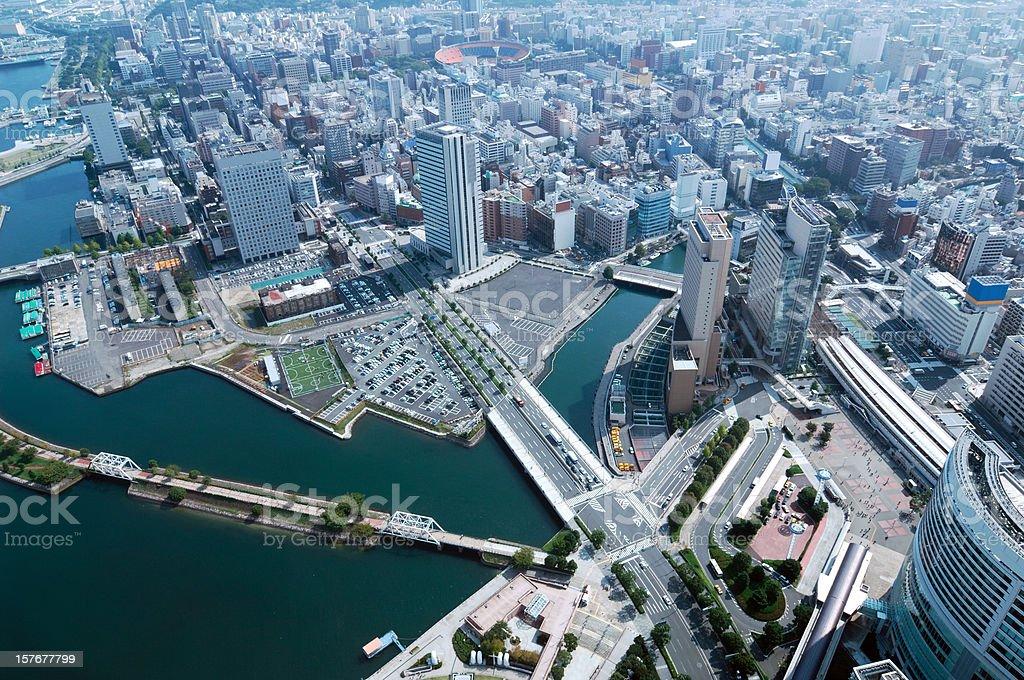 Yokohama Day View of Minato Mirai, Kannai, Motomachi stock photo