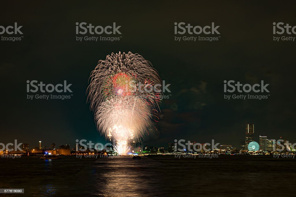 Yokohama Fireworks stock photo