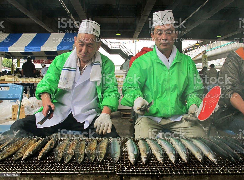 Yokohama Fish Market, Japan royalty-free stock photo