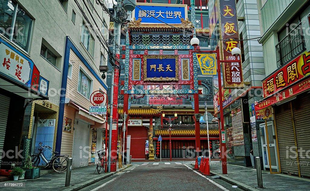 Yokohama Gate China Town stock photo