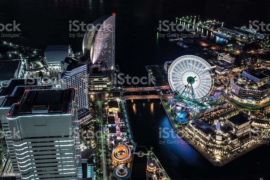 Yokohama Harbor stock photo